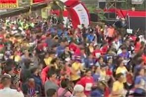 mumbai marathon old person cardiac arrest dies