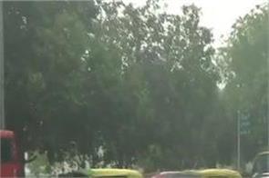 delhi ncr rainfall pollution weather