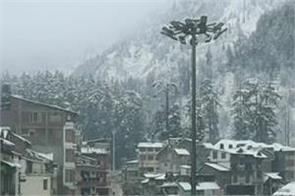 manali in himachal pradesh fresh snowfall today