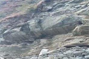 himachal rampur nirmand road blocked due to landslide