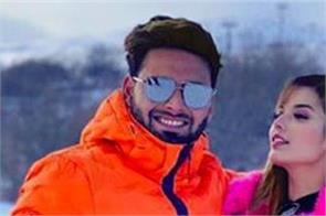 pant share girlfriend isha negi with pic on snow capped mountains