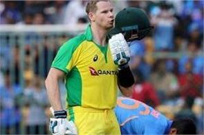 steve smith hit 9th odi century against team india