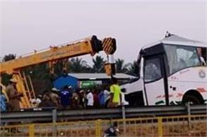 19 people dead in a collision between a bus and truck
