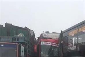 fatehgarh sahib dense fog accident tanker acid