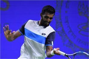 prajnesh gunneswaran crashed out in the pre quarterfinals of the tata open