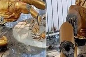 mahatma gandhi statue damage jharkhand