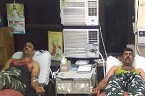 crpf jawans blood donation in gtb hospital