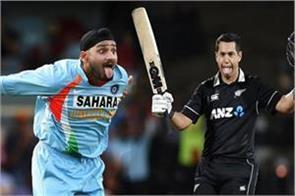 harbhajan asks taylor to remove tongue after scoring hundreds