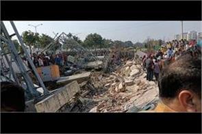 building collapsed in kharar landra road