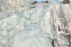 ice climbing in minus 15 degree temperature in ladakh