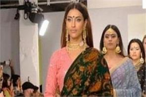 london fashion week  indian sarees