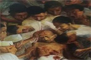 kerala budget cover mahatma gandhi assassination painting