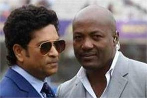 tendulkar and lara in the first match of the road safety world series
