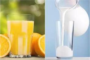 orange juice vs milk which is a better morning drink
