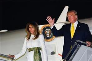 president donald trump leaves for us after a two day indian visit