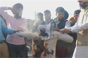 unemployed teachers  kali holi  effigy  government of punjab  patiala