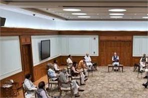 cabinet meeting narendra modi  social distancing