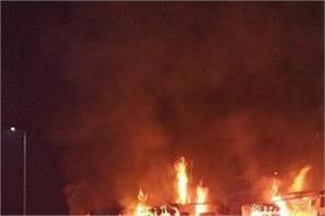 madhya pradesh truck fire 5 people  dead