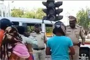 maharashtra  police make violators do squats in nagpur