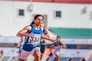 khelo india  dutee chand won the 200m gold medal