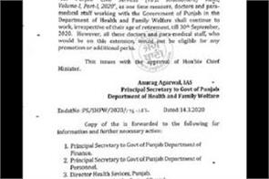 government of punjab order doctors retirement cancel