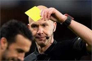 yellow cards to footballers who spit on the field during a match