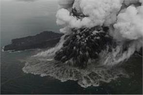 famous krakatoa volcano erupts in indonesia