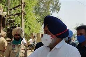 sukhbir badal  sanitizer  police