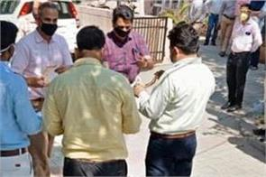 vigilance bureau distributes face shields