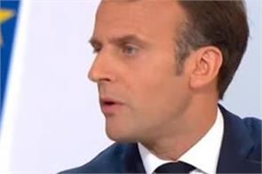corona  the french president questions on china