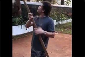 sachin is breaking lemon  video shared by harbhajan