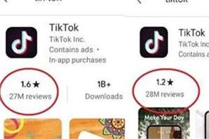 google deletes 50 lac reviews to improve ticktock  s rating