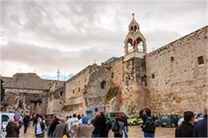 bethlehem  s nativity church closed due to corona reopened to worshipers