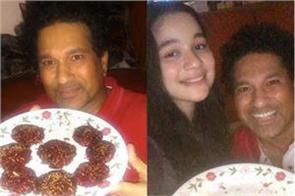 this kebab made by sachin  s daughter sara  shared photo