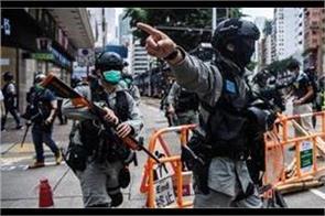 china calls protests   terrorism   on hong kong