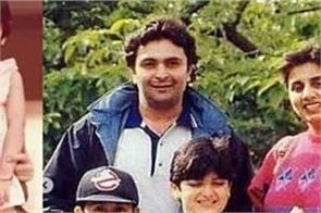 childhood picture of ranbir kapoor riddhima kapoor with neetu singh