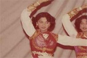 bollywood actress madhuri dixit shared her childhood pic