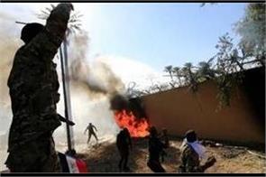 rocket attack near us embassy in baghdad