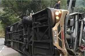 six killed  20 injured as bus flips over on china highway