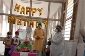 isolation ward  positive child girl  birthday