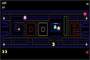 google doodle on popular game pacman