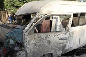 bomb in afghan capital targeted tv bus  2 dead