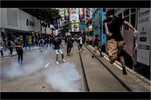 protest in hong kong over china move to pass security law