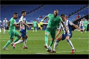 real madrid close to spanish league title with benzema  s brilliant play