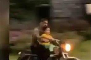 ms dhoni takes ziva dhoni on a bike ride inside ranchi farmhouse
