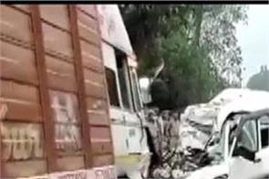 uttar pradesh road accident family 9 people death