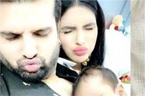 yuvraj hans and mansi sharma share cute pics of his son