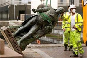 removed statue of robert milligan  a slave trader in britain