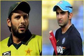 i like gambhir as a batsman but not as a human being  afridi