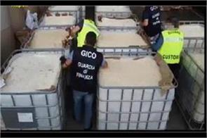 world  s largest drug consignment seized in italy